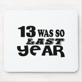 Mousepad 13 era assim tão no ano passado o design do