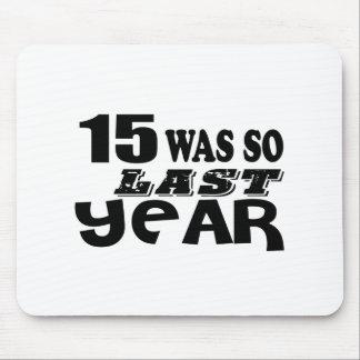 Mousepad 15 era assim tão no ano passado o design do