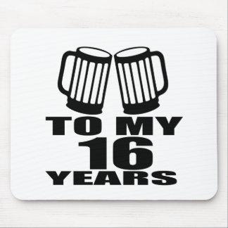 Mousepad 16 elogios a meu aniversário