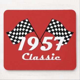 Mousepad 1957 bandeiras Checkered pretas & brancas