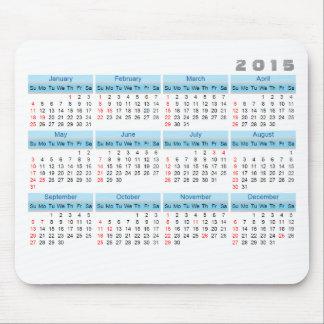 Mousepad 2015 azul-céu simples e branco do tapete do rato