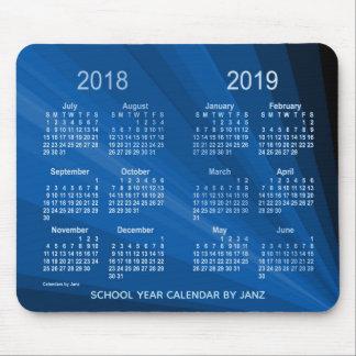 Mousepad 2018-2019 calendário azul do ano escolar do fã por