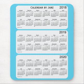 Mousepad 2018-2020 calendário dos azul-céu por Janz