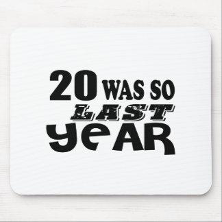 Mousepad 20 era assim tão no ano passado o design do