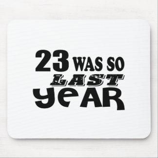 Mousepad 23 era assim tão no ano passado o design do