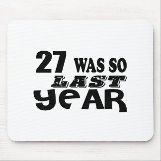 Mousepad 27 era assim tão no ano passado o design do