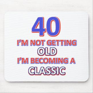 Mousepad 40 designs do aniversário