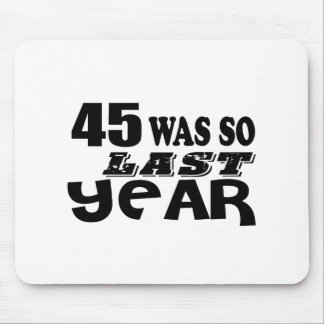 Mousepad 45 era assim tão no ano passado o design do