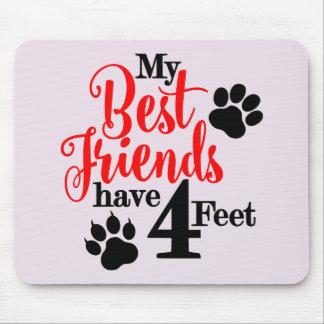 Mousepad 4 pés de melhores amigos