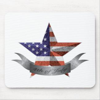 Mousepad 4o da bandeira e da estrela de julho com textura