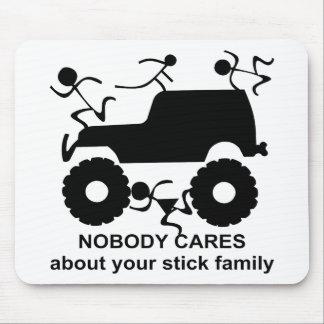 Mousepad 4x4 ninguém importa-se com sua família da vara