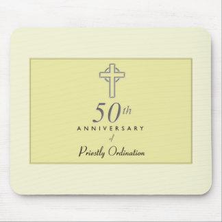 Mousepad 50th Aniversário do padre com cruz gravada