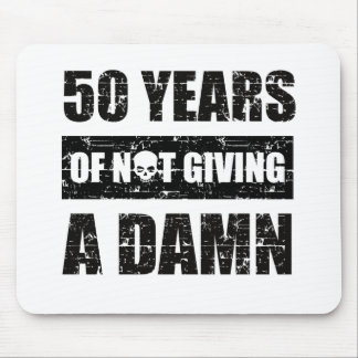 Mousepad 50th presente de aniversário engraçado do ano