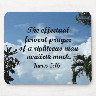 Mousepad 5:16 de James a oração fervente effectual de