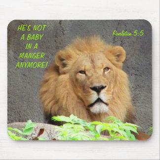 Mousepad 5:5 da revelação com leão masculino não um bebê