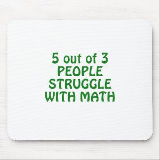 Mousepad 5 de 3 pessoas do esforço com matemática