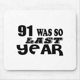 Mousepad 91 era assim tão no ano passado o design do