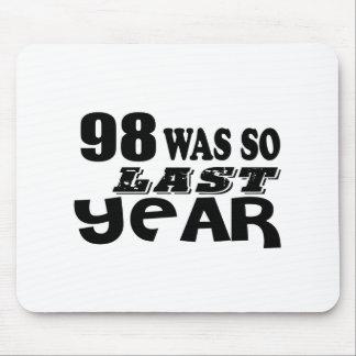 Mousepad 98 era assim tão no ano passado o design do