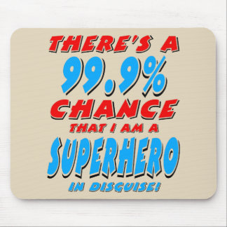 Mousepad 99,9% Eu sou um SUPER-HERÓI (o preto)
