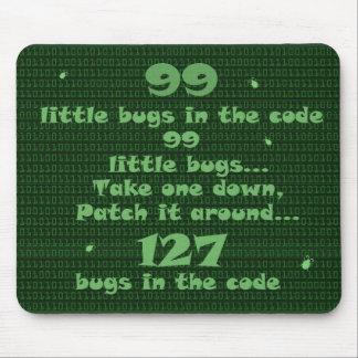 Mousepad 99 insetos pequenos no código