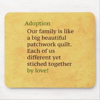 Mousepad A adopção é uns retalhos