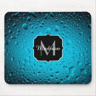 Mousepad A água azul legal do na moda deixa cair o