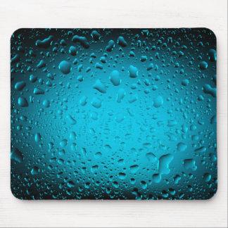 Mousepad A água legal deixa cair o tapete do rato azul