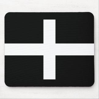 Mousepad A bandeira de Piran Cornish do santo - bandeira de
