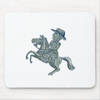 Mousepad A cavalaria americana comanda o carro Prancing do