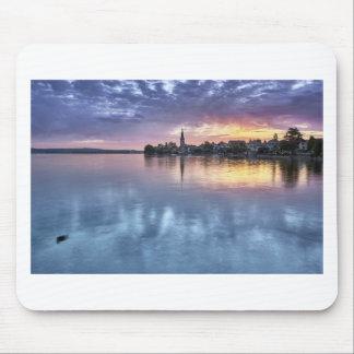 Mousepad a cidade do Natal de Constance do lago ilumina a