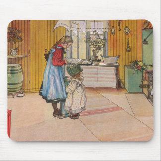 Mousepad A cozinha pelo impressão da arte de Carl Larsson