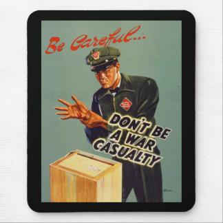 Mousepad A estrada de ferro expressa a segurança 1940