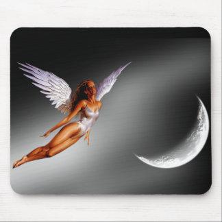 Mousepad A fantasia de prata do anjo/Sci Fi projetou