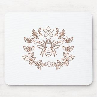 Mousepad A flor do café do zangão sae do ícone