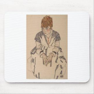 Mousepad A irmã do artista de Egon Schiele- na lei
