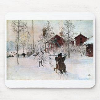 Mousepad A jarda e o Lavagem-House, Carl Larsson
