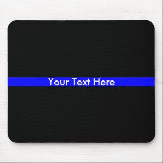 Mousepad A linha azul fina polícia apoia