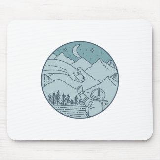 Mousepad A lua do Brontosaurus do astronauta Stars o