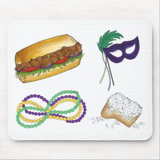 Mousepad A máscara do carnaval de Nova Orleães perla