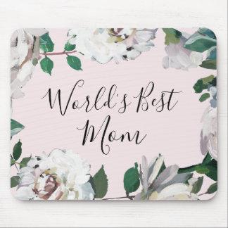 Mousepad A melhor mamã do mundo floral bonito