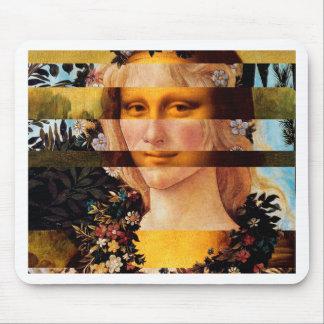 Mousepad A Mona Lisa de Leonardo & a flora de Botticelli