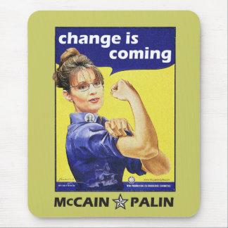"Mousepad a ""mudança é"" Mccain/Partido Republicano de vinda"