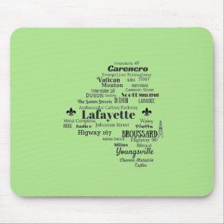 Mousepad A paróquia de Lafayette Louisiana coloca o tapete