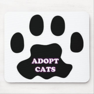 Mousepad A pata do gato adota gatos com DIVERTIMENTO bonito