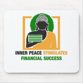 Mousepad A paz interna estimula o sucesso financeiro