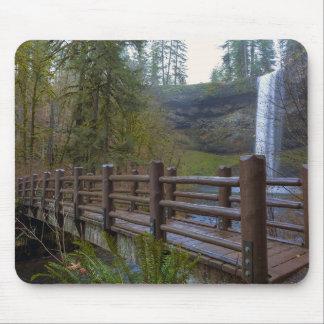 Mousepad A ponte de madeira na prata cai parque estadual
