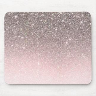 Mousepad A prata & cora feminino Glam da faísca cor-de-rosa