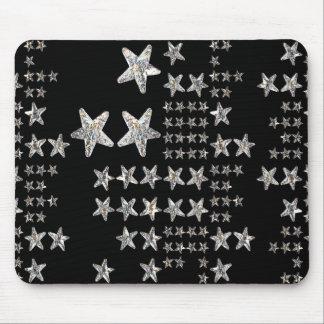 Mousepad A prata Stars o tapete do rato
