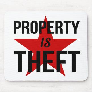 Mousepad A propriedade é roubo - comunista socialista do