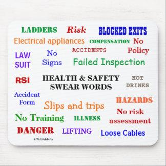 Mousepad A saúde e a segurança juram as palavras irritante